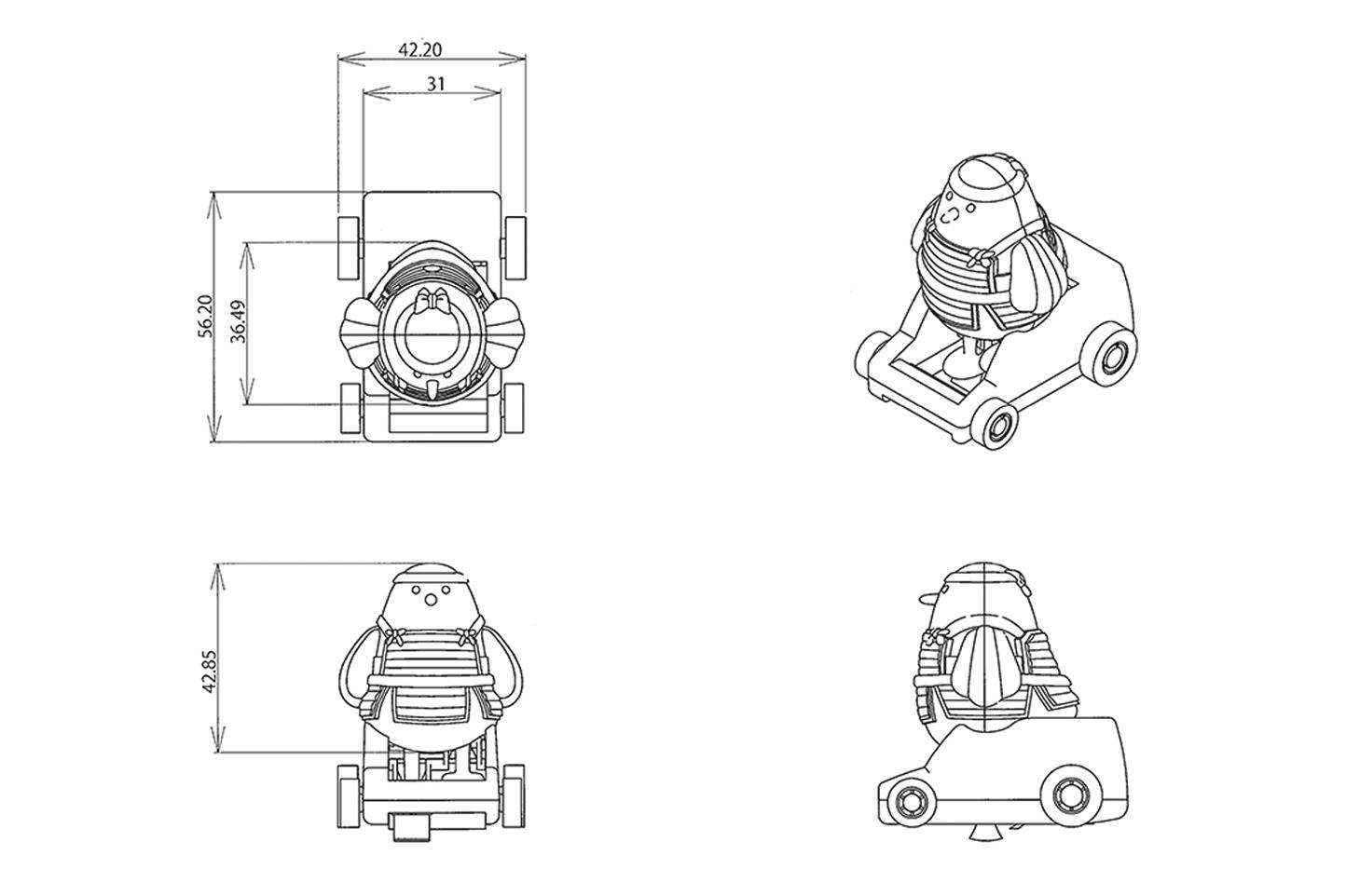 寸法が決まり、徐々に3Dに近づいていくデザイン